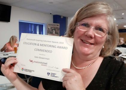 Volunteer Kate commended in local awards