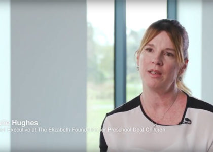 Julie Hughes featured in AB videos about Cochlear Implants