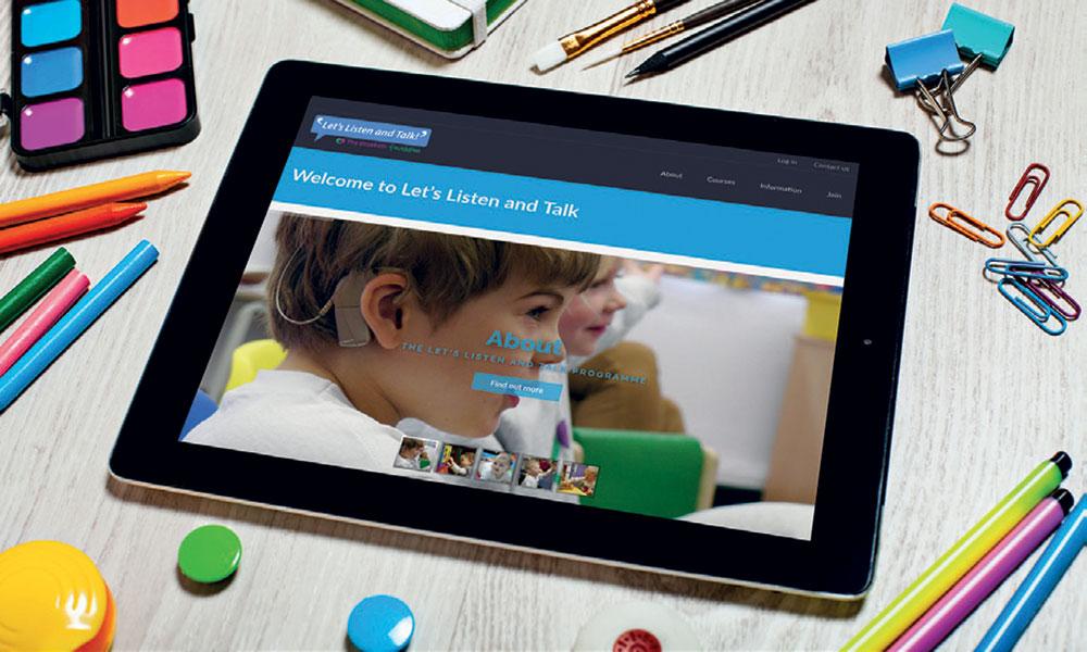 Let's Listen and Talk - an online support programme for deaf children
