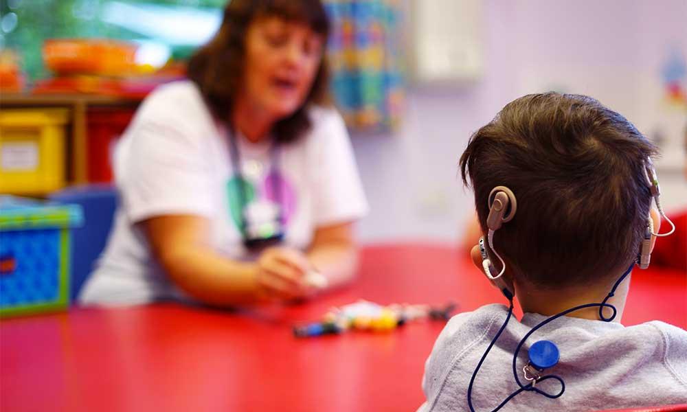 Preschool class at The Elixabeth Foundation for preschool deaf children