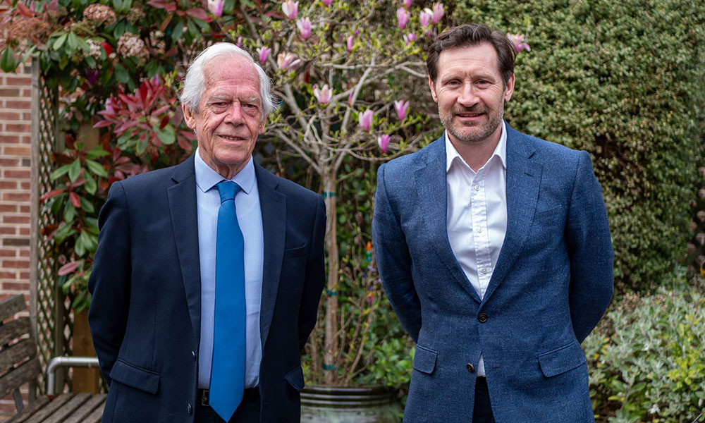 Peter Ardern and Tom Hollower - previous and current Chair of Trustees of The Elizabeth Foundation